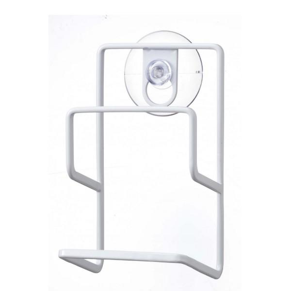 Porte ponge blanc ventouse range eponge pratique et for Porte eponge design