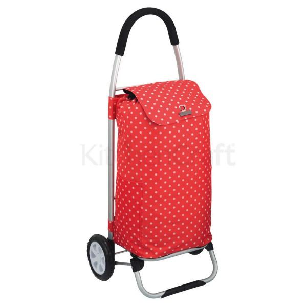 chariot de course pliable pois rouge chariot de marche avec poche isotherme. Black Bedroom Furniture Sets. Home Design Ideas