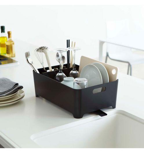 Egouttoir vaisselle noir en plastique egouttoir vaisselle design et porte - Egouttoir vaisselle bois ...