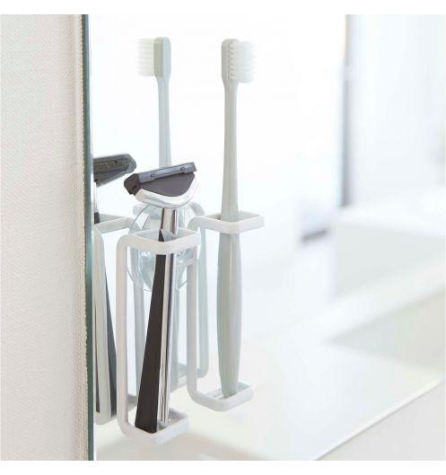 porte brosse a dents blanc design et pratique accessoires salle de bain pas cher. Black Bedroom Furniture Sets. Home Design Ideas