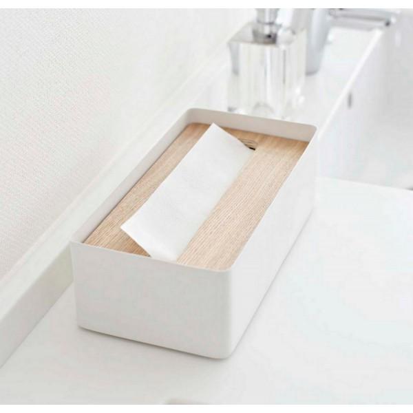 Boite a mouchoir bois et metal blanc boite de mouchoirs design et pas cher - Boite a mouchoirs casa ...