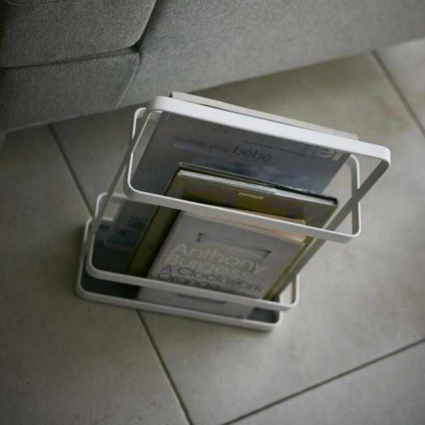 porte revue design blanc acier range revue petit prix. Black Bedroom Furniture Sets. Home Design Ideas