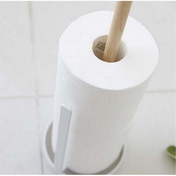 derouleur papier cuisine design bois et blanc porte rouleau pas cher. Black Bedroom Furniture Sets. Home Design Ideas