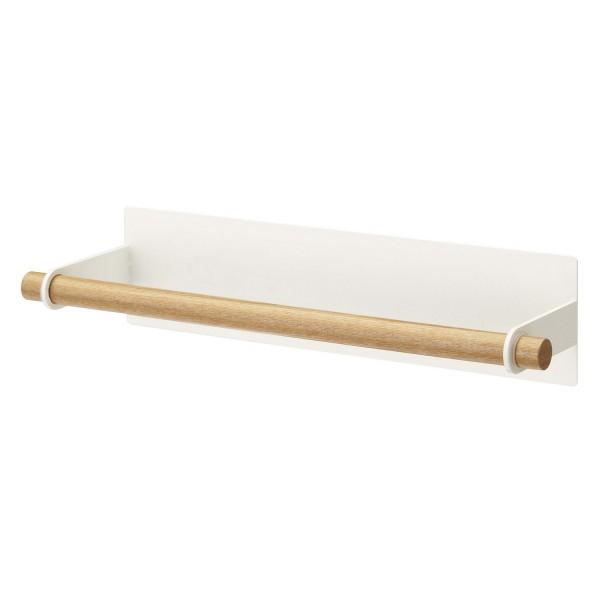 Derouleur essuie tout en bois for Porte bois blanc