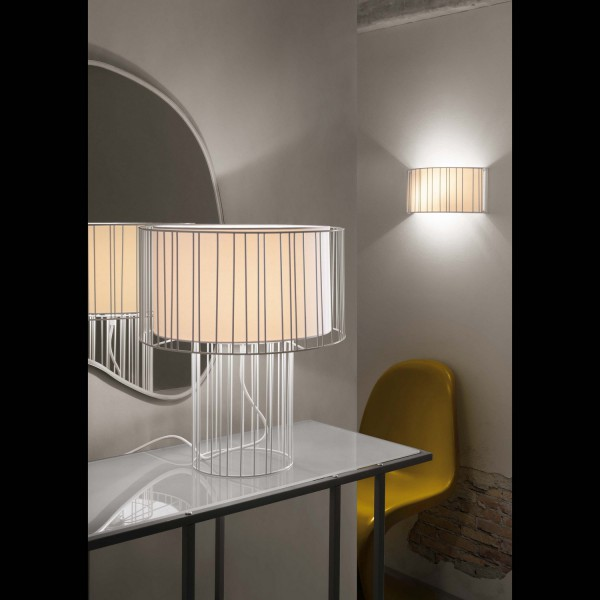 lampe de chevet blanche originale luminaires faro. Black Bedroom Furniture Sets. Home Design Ideas