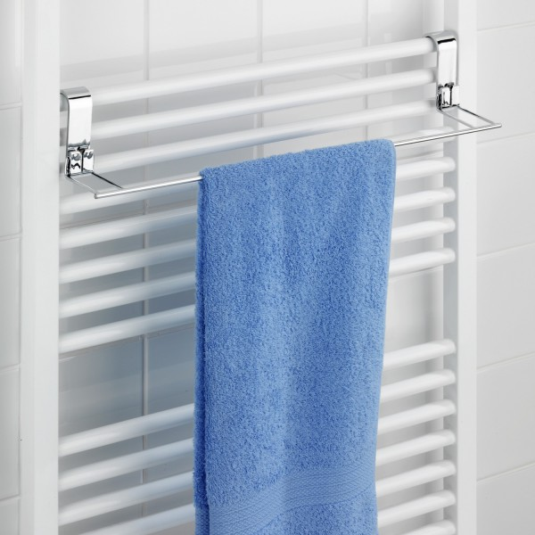 Porte serviette mural range serviette wenko for Barre porte serviette salle de bain