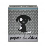 Boite metal Croquettes pour chien grise DLP