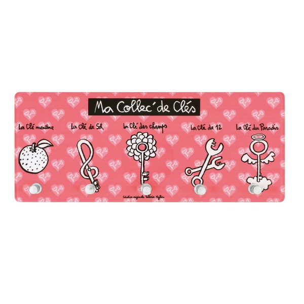 Accroche cl rose design derri re la porte for Decoration derriere la porte