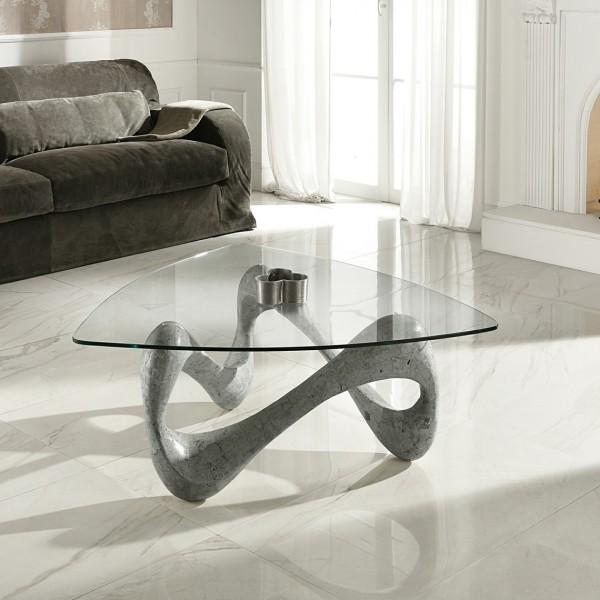 Table salon grise design tables basses originales - Table salon grise ...