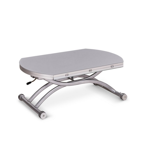 Table basse blanche design relevable tables convertibles - Table relevable blanche ...