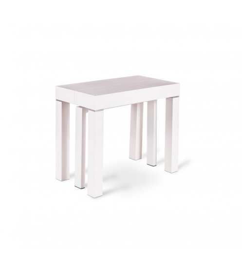 Console table manger blanche console m lamin - Console extensible blanche ...