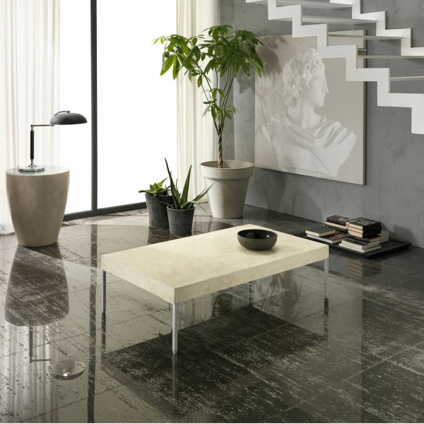 Table Basse Pierre Naturelle Fossilisee Design De Maison