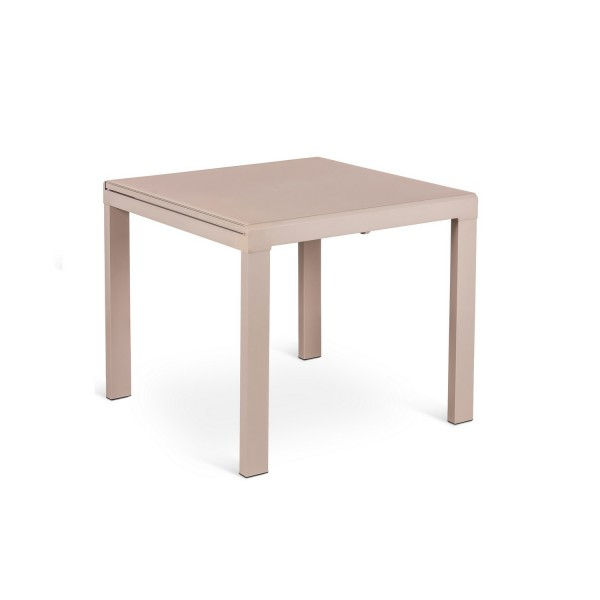 Table bois carr e avec rallonge for Salle a manger table carree rallonge