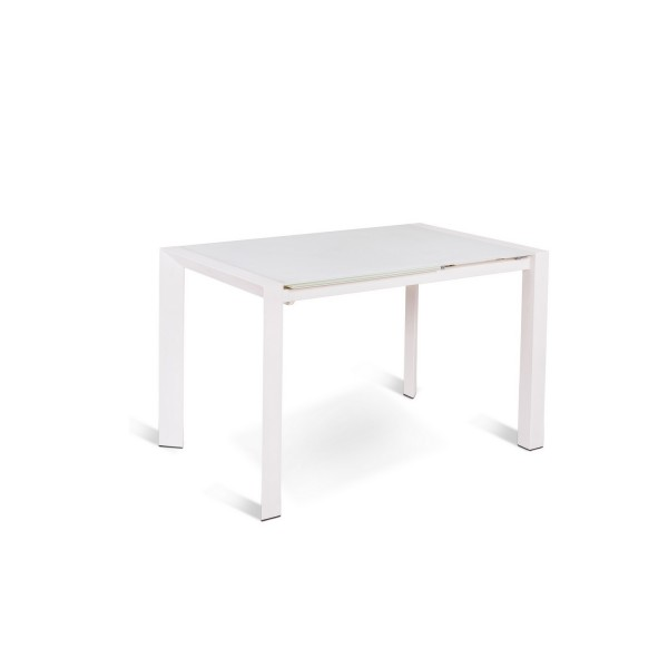 Table manger extensible blanche table originale a rallonge for Table blanche a rallonge