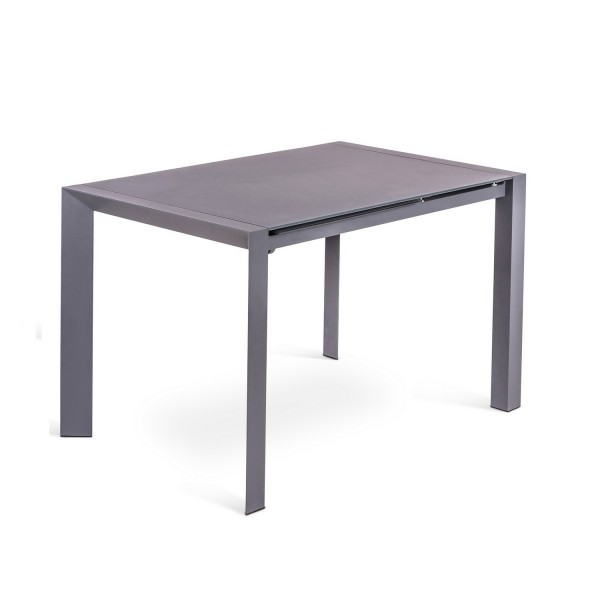 Table manger grise a rallonge table design for Table de salle a manger grise