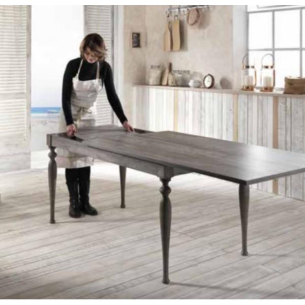 Table à manger • Table à manger extensible en bois clair 140190cm ~ Table En Bois Extensible