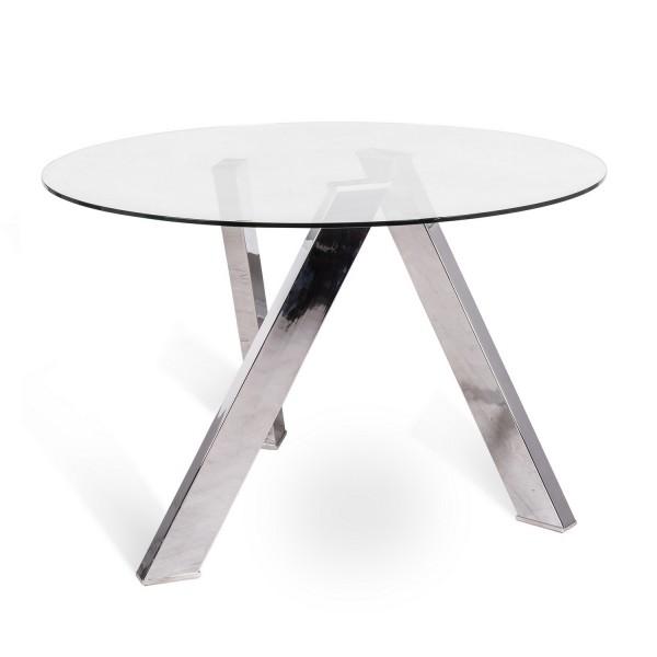 Table ronde avec plateau de verre salon - Table en verre ronde ...