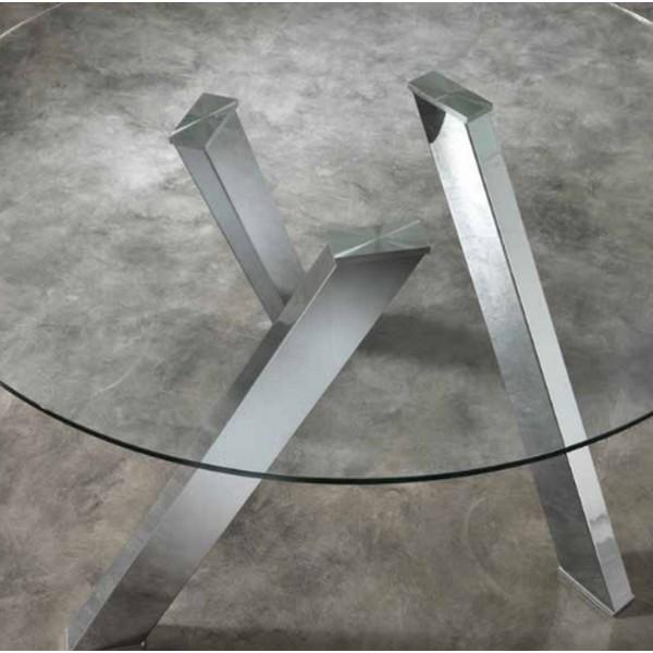 Table ronde avec plateau de verre salon - Plateau verre pour table ronde ...