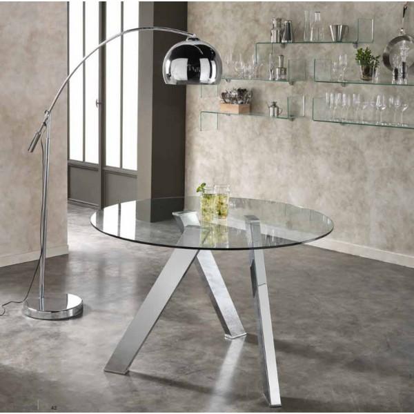 table ronde avec plateau de verre salon. Black Bedroom Furniture Sets. Home Design Ideas
