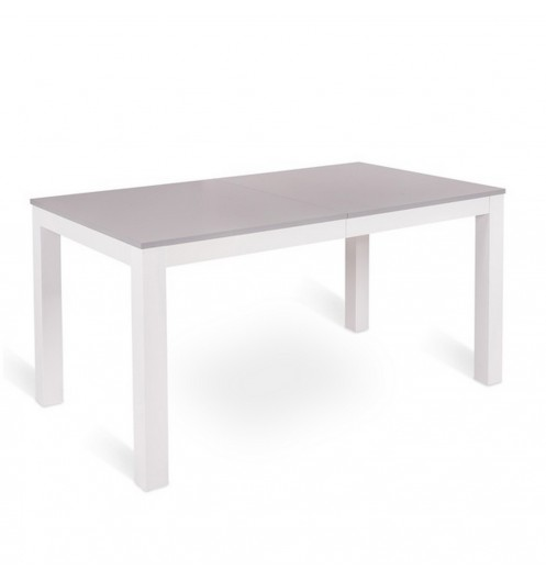 Table a manger blanche et grise for Table a manger blanche