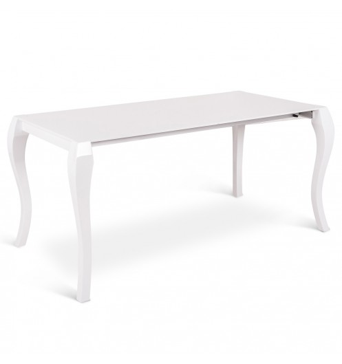 Meuble salle manger table salle a manger laque blanc rallonge meuble sall - Table blanc laque extensible ...