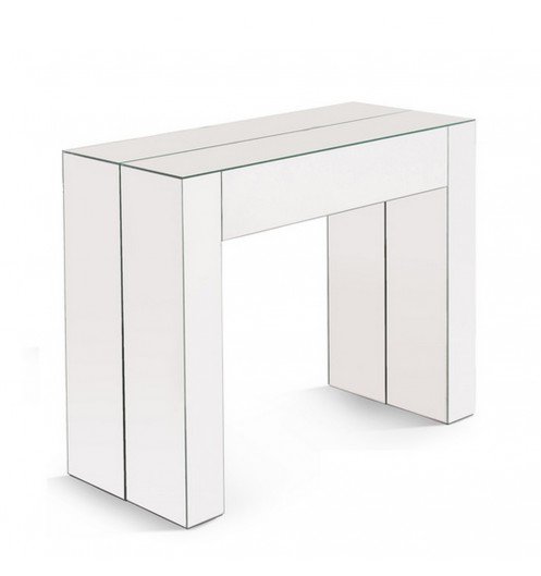 Console transformable en table console d 39 entr e for Miroir et console