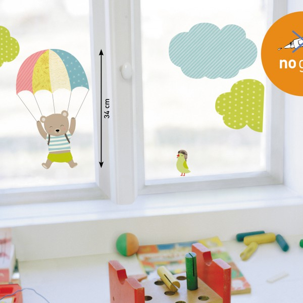 Stickers fenetre enfant stickers vitre color s - Stickers pour vitres fenetres ...