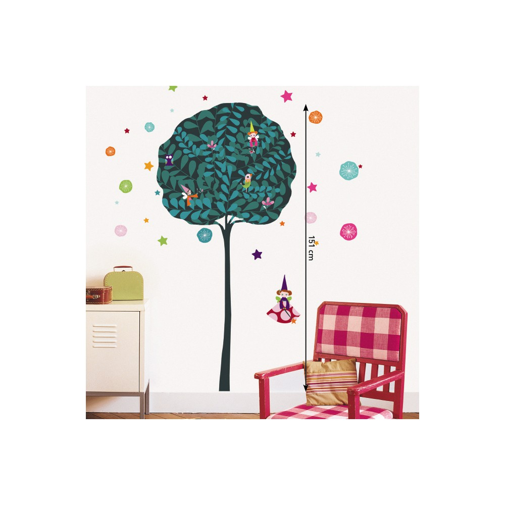 Stickers enfant colorés  stickers chambre fille