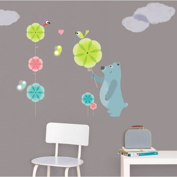 stickers chambre b b original sticker mural enfant. Black Bedroom Furniture Sets. Home Design Ideas