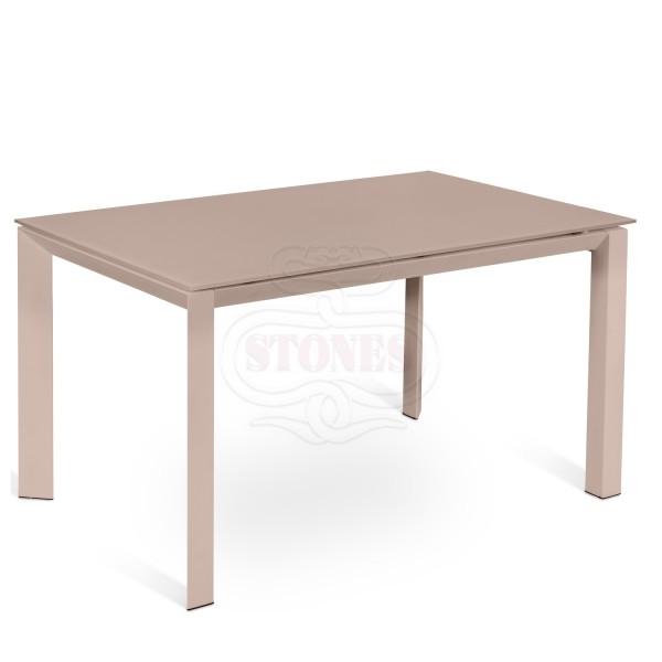 table console extensible marron table a manger salon. Black Bedroom Furniture Sets. Home Design Ideas