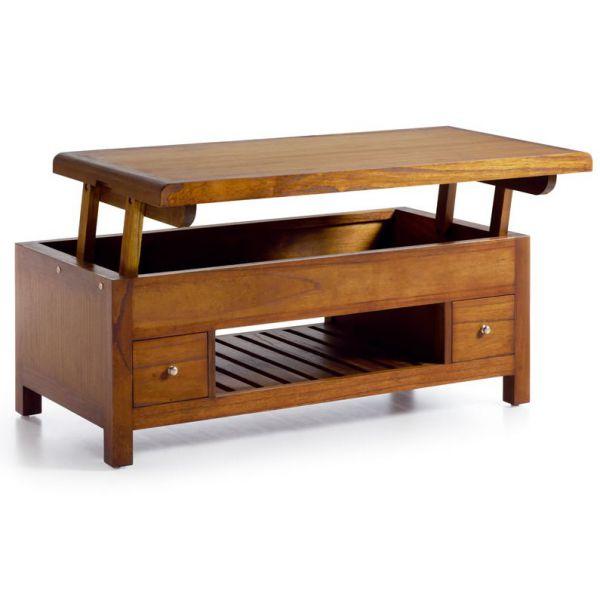 table basse relevante en bois 110 cm 2 tiroirs meubles. Black Bedroom Furniture Sets. Home Design Ideas