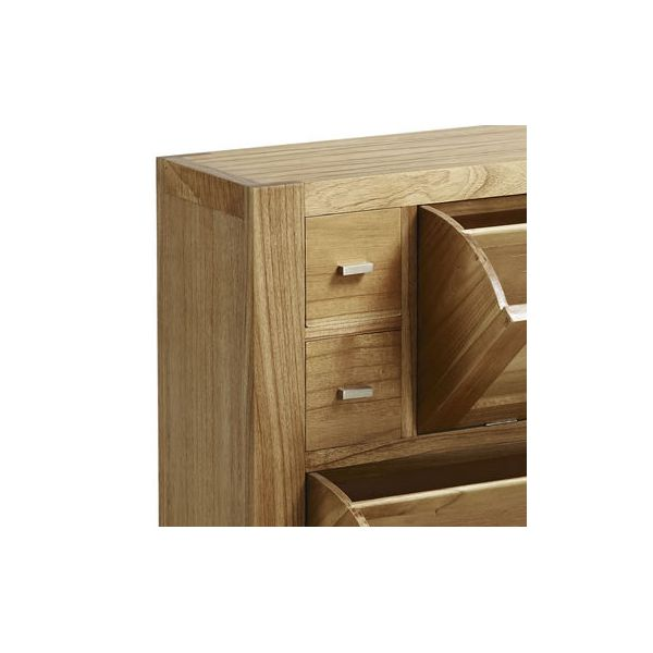 Meuble chaussures en bois massif 4 tiroirs entr e - Meuble a chaussures original ...
