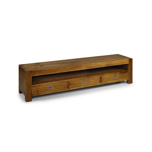 Meuble tv en bois grand meuble t l for Meuble de rangement tv