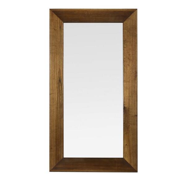 Miroir en bois d coration chambre for Miroir mural entree