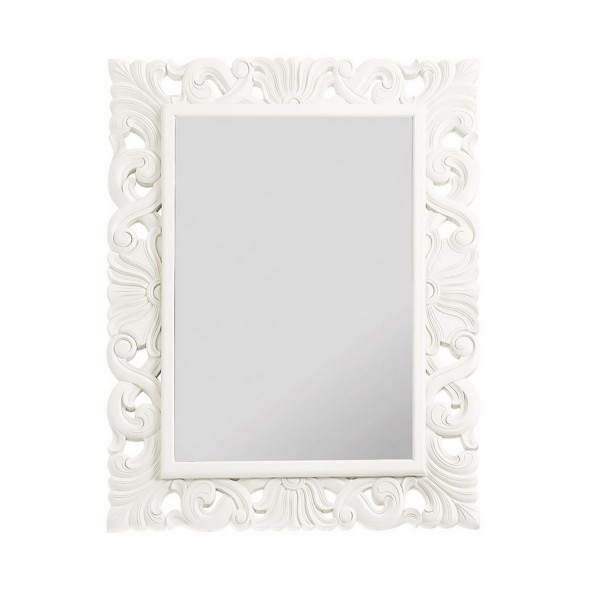 Miroir blanc laqu miroir mural - Grand miroir blanc laque ...