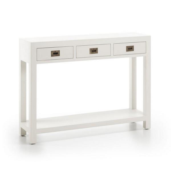 Meuble d 39 entr e avec tiroirs console blanche - Console pour cuisine ...