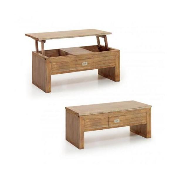 table basse relevable en bois table relevante marron. Black Bedroom Furniture Sets. Home Design Ideas