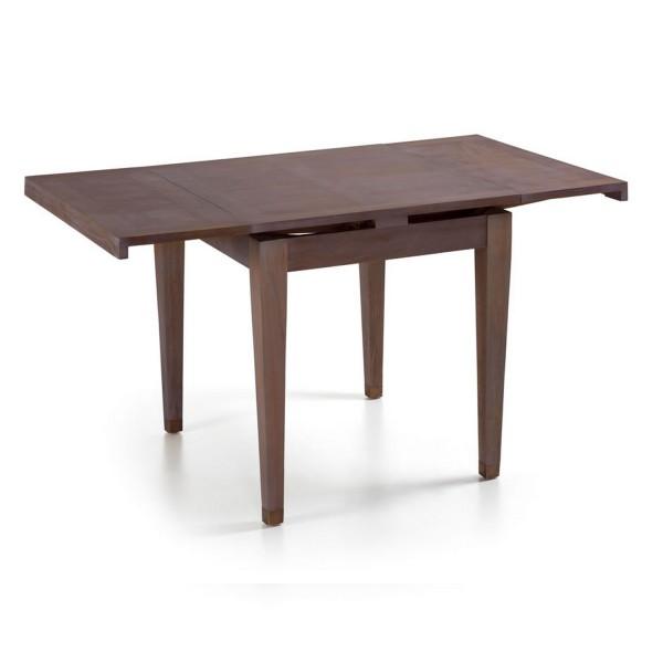 Table carr e extensible table manger en bois - Table a manger extensible bois ...