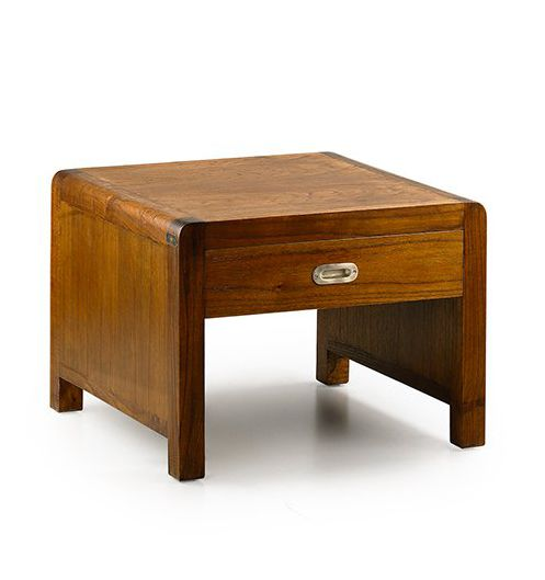 Table basse carr e 60cm en bois recycl s de bate - Table basse carree bois ...