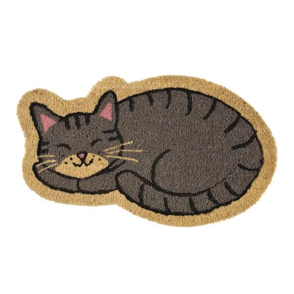paillasson chat tapis d entr 233 e gris animaux dlp