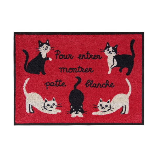 tapis d 39 entr e rouge tapis entr e chats derri re la porte. Black Bedroom Furniture Sets. Home Design Ideas