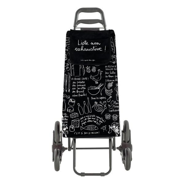 caddie de courses 6 roues noire poussette de march dlp. Black Bedroom Furniture Sets. Home Design Ideas