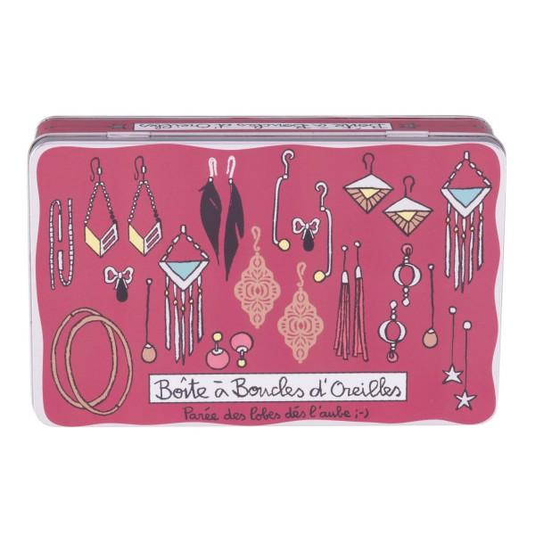 Boite a bijoux rose boite rangement bijoux dlp - Boite rangement boucles d oreilles ...