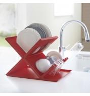 egouttoir vaisselle rouge pratique avec goutti re gouttoir vaisselle pour petite cuisine. Black Bedroom Furniture Sets. Home Design Ideas