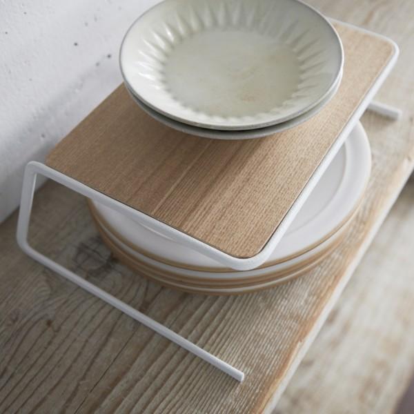 Plateau en bois rangement vaisselle en bois - Rangement vaisselle cuisine ...