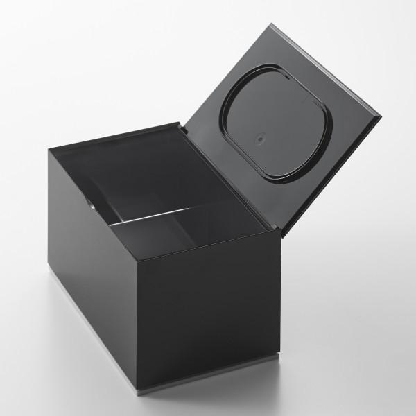 boite cotons d maquillant noire boite maquillage design. Black Bedroom Furniture Sets. Home Design Ideas