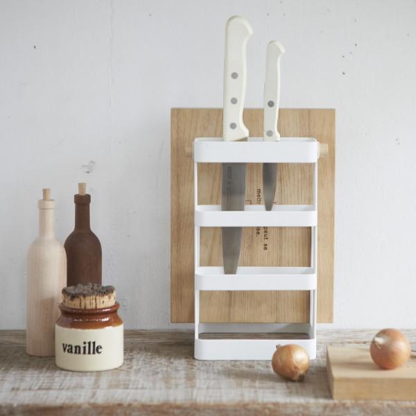 Rangement couteaux rangement cuisine design for Etagere metal cuisine