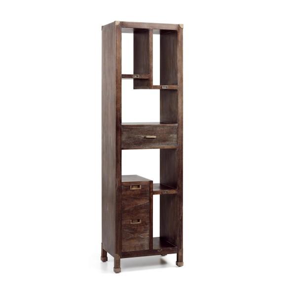 Biblioth que bureau meuble en bois for Rangement tiroir en bois