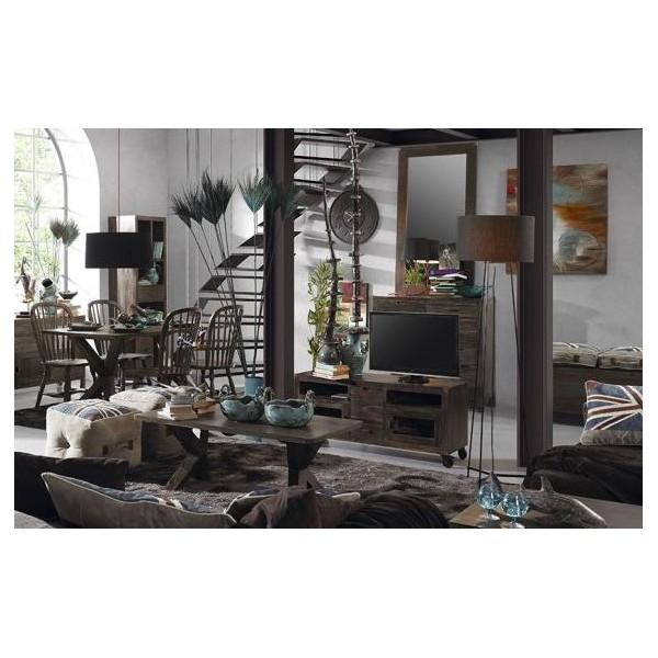 Meuble Tv Avec Roulettes ~ Idées de Décoration et de Mobilier Pour La Concept -> Meuble Tv Roulettes Bois