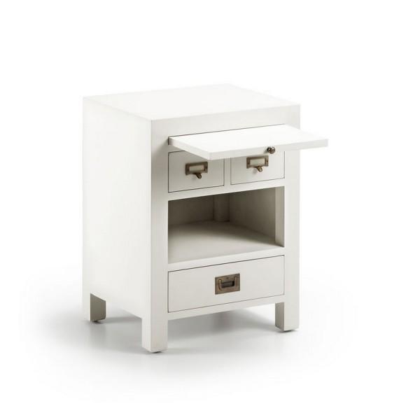 Table basse design avec plateau table de chevet - Table de chevet blanche ...